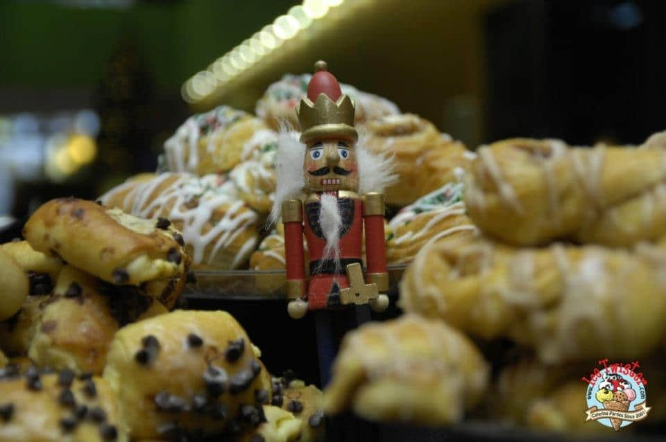 Our little friend The Nutcracker enjoying our pastries! Join him today and request a quote.