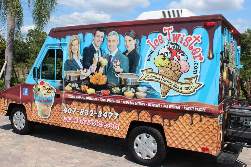 Our new TwisterMobile! Book your Orlando Ice Cream Truck Social today!