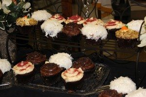 Delicious fresh baked cupcakes available with our Sweets Social!