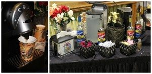 Part of our elegant Cappuccino and Beverage Bar!