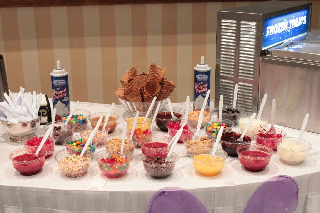 Our toppings station! Comes included with all socials!